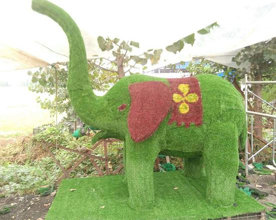 大象五色草造型