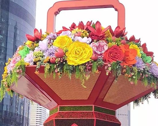 城市广场立体花坛造型